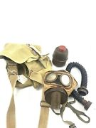 French Tc-38 Gas Mask W/ Canister, Tube And Satchel-10862