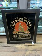 Norwich Union Fire Insurance Society Framed Advertising Piece- 11072