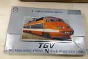 Bachmann French High Speed Tgv French Passenger N Scale Electric Train Set