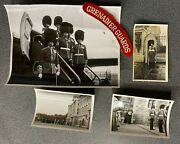 Ww2 Grenadier Guards Original Photographs X 4 And Shoulder Title Wearing Medals
