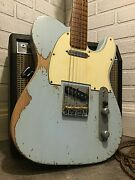 Relic Fender Telecaster Road Worn Blue Electric Guitar By Nateand039s Relic Guitars