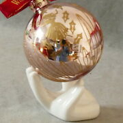 Christmas Ornament Waterford Heirlooms 12 Days Of Xmas Ball 9 Ladies Dancing Pnk