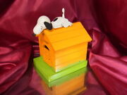 Snoopy Woodstock Coin Made In Japan By Bank Schmid Music Box Super Vintage 1970