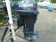 Used 1995 Evinrude 48hp 48spl 20 Outboard Boat Motor Engine 140 Psi On All