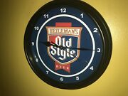 Heilemanand039s Old Style Beer Bar Tavern Advertising Man Cave Clock Sign
