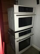Jennair White Built-in Microwave Oven Combination Jmc8127dds 27 As Is
