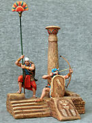 The Egyptian Soldiers In The Column. Elite Tin Soldiers St. Petersburg 54 Mm