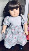 Pre-mattel Early Pleasant Company American Girl Doll Samantha In A Vintage Dress