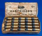 15mm Pinfire, 50 Cartridges, Pristine Condition With Original Box, Eley London