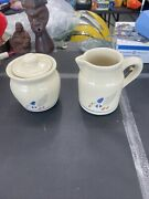 Vintage Fp Usa Roseville Pottery Suger And Cream Duck Set