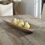 Rustic Reclaimed Wood Reproduction Dough Tray Xxl 30 Bowl Uttermost 18950