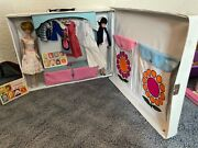 Barbie And Stacey Double Doll Case Used Vintage Bubblecut 2 Dolls