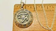Sterling Silver Peter Stone Pendant Eye Of Horus Zodiacwith 18 Italy Necklace
