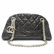Mademoiselle Chain Shoulder Bag Women And039s Black Silver F _71340