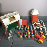 Vintage Fisher Price Family Play Farm Play Set With 30 Figures