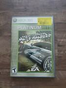 ✨need For Speed Most Wanted Microsoft Xbox 360 Platinum Hits Case And Game✨