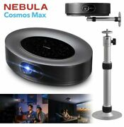 New Nebula Cosmos Max 4k Projector And Stand Bundle Android Tv 9.0 Dolby 3d Audio