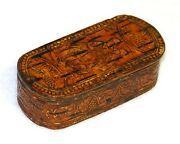 Antique Birch Bark Snuff Box From Sweden - And039snusand039 - Fine Quality Snuff Box