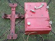 Vintage Superior American Fire Alarm Pull Box With Mounting Bracket