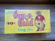 Vintage Hoffmanand039s Cup O Gold 10 Cent Candy Bars 24 Count Box Miner Picture