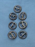 Old Vintage Native American Silver Cast Buttons Rare