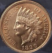 1890 Indian Head Penny 4 Diamonds Awesome Pennycleaned