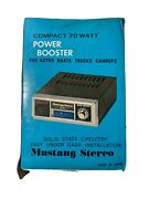 Mustang Stereo Se-70 Power Booster Compact 70 Watts For Auto Boats Trucks Camp