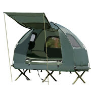 Goplus 1-person Compact Portable Pop-up Tent/camping Cot Sleeping Bag