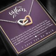 To My Mom Necklace From Daughter Gift For Mother Birthday Present Xmas For Mom