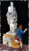 Representation Of A Sculptor At Work. Pietra Dura Marble Grand Tour Italy.