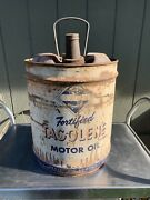 Antique Skelly Tagoline 5 Gal Oil Can