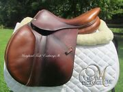 16.5 Devoucoux Socoa Calfskin Close Contact Jumping Saddle 2 Flaps- On Trial