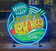 Magic Hat Brewery Low Key Beer 3d Neon Light Ipa Advertisement Man Cave Decor