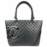Cambon Large Tote A25169 Black Women And039s Shoulder Bag Secondhand _74114