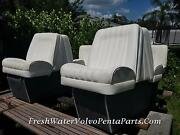 White Boat Interior 2 Back To Back Seats Rear Bench Seat Front Cushions Cobalt
