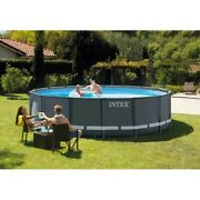 Intex 16ft X 48in Ultra Xtr Pool Set With Sand Filter Pump Ladder Ground Cloth