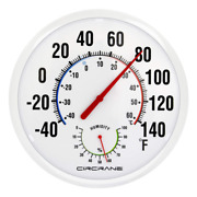 Round Thermometer Hygrometer Large Indoor Outdoor Patio Weather Replacement Kit