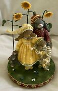 Woodsong - New Day Bunny Rabbits And Squirrel Collectable Figurine 2002