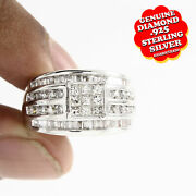 1.02ct White Cz Sterling Silver Bridal Engagement Band Ring Free And Fast Shipping