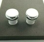Price Pfister Vintage Brass Replacement Bar Faucet Knob Handle 2 White/chrome
