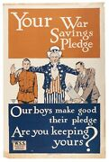 Wwi Poster Collection - Including Original Uncle Sam Poster Large Size - Rare