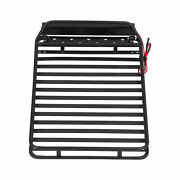 Luggage Carrier Led Light Roof Rack For Trx4 /gen8/ Axial Scx10 Iii 1/10 Rc Car