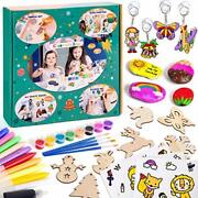 Sundaymot Arts And Crafts For Kids - Rock Painting Kit And Window Art Wooden Art
