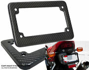 Jdm Racing Style 100 Real Carbon Fiber Motorcycle License Black Plate Frame E5