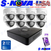 Hikvision 8ch Home Security Kit Cctv System Hd 8 Dome 1080p Vandal Proof