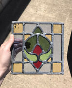 Antique Leaded Stained Glass Window Antique Vintage Leaded Stained Glass