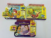 Leap Frog My First Leappad Books Cassettes Number Farm Princess Tales Abcs Lot/3