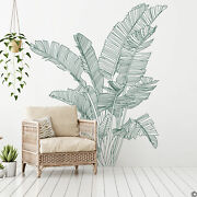 Bird Of Paradise Large Tropical Plant Wall Decal, Modern Home Decor K814