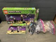 Lego Minecraft The Ender Dragon Set 21117 With Steve In Diamond Armor Complete