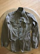Wwi Us Army Green Doughboy Coat Jacket. Vg Condition.